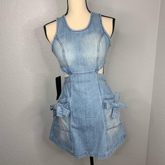 bebe Dresses & Skirts - Bebe Jean dress